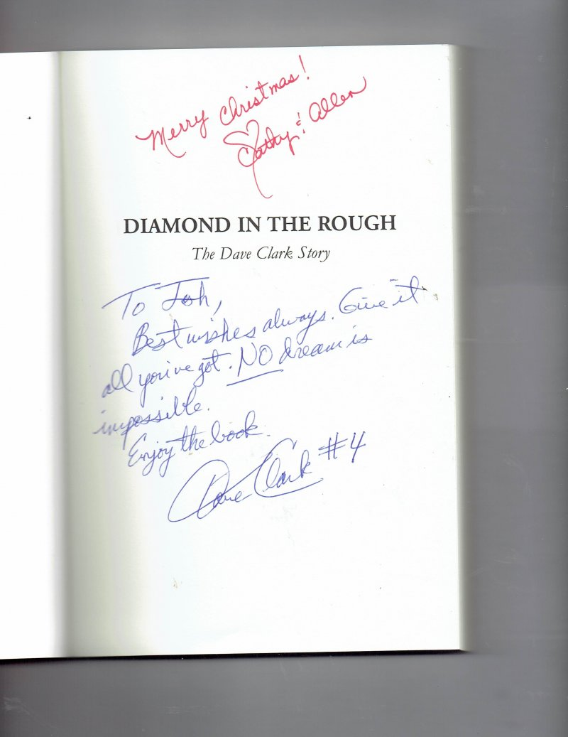Image 0 of Diamond in the Rough  The Dave Clark Story by Dave Clark signed Autographed