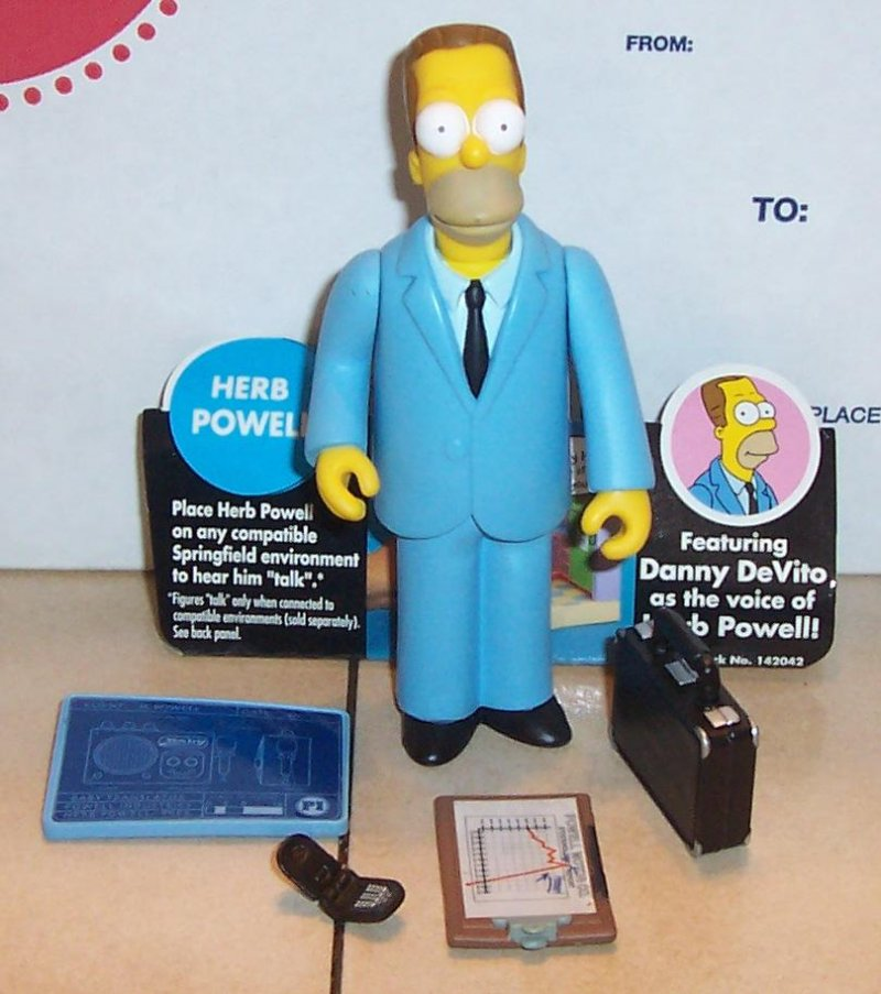 Image 0 of 2002 Playmates Simpsons HERB POWELL Figure VHTF 100% Complete WOS