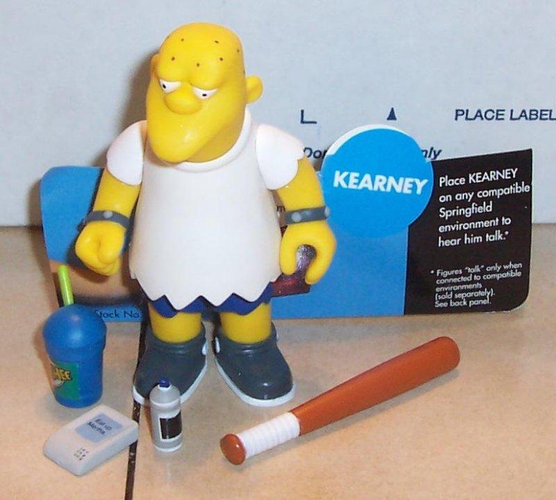 Image 0 of 2002 Playmates Simpsons KEARNEY Figure VHTF 100% Complete WOS Series 8
