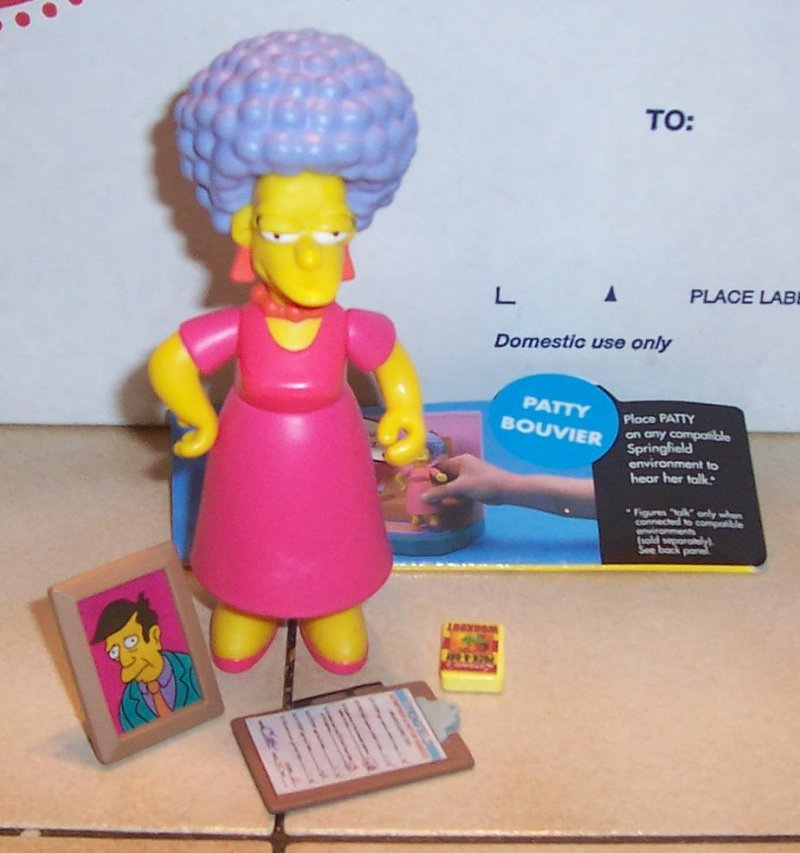 Image 0 of 2001 Playmates Simpsons PATTY BOUVIER Figure VHTF 100% Complete WOS Series 4
