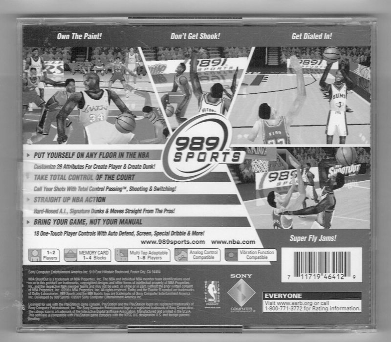 Image 1 of NBA shoot Out 2002 Video Game Sony Video Game Sony PlayStation 1 2001