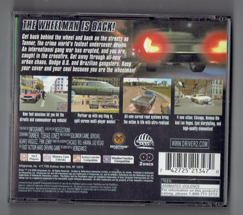 Image 1 of Driver 2 Greatest Hits Sony Video Game Sony PlayStation 1 2001