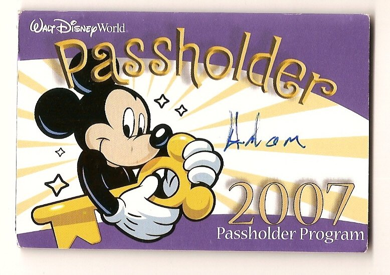 Image 0 of walt disney world ticket pass holder #2 2007