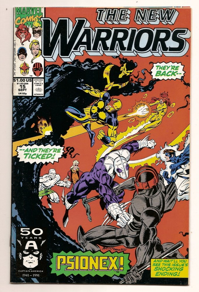 Image 0 of The New Warriors #15 Marvel Comics