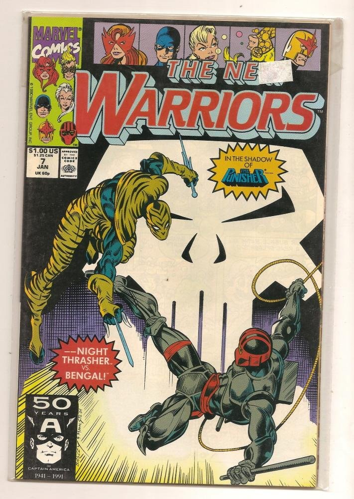 Image 0 of The New Warriors #7 with the punisher 1991 Marvel Comics