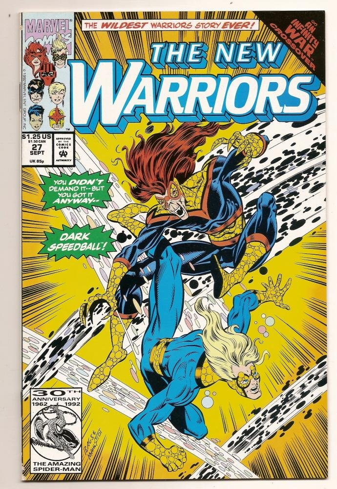 Image 0 of The NEW WARRIORS #37 July 1993 Marvel Comics