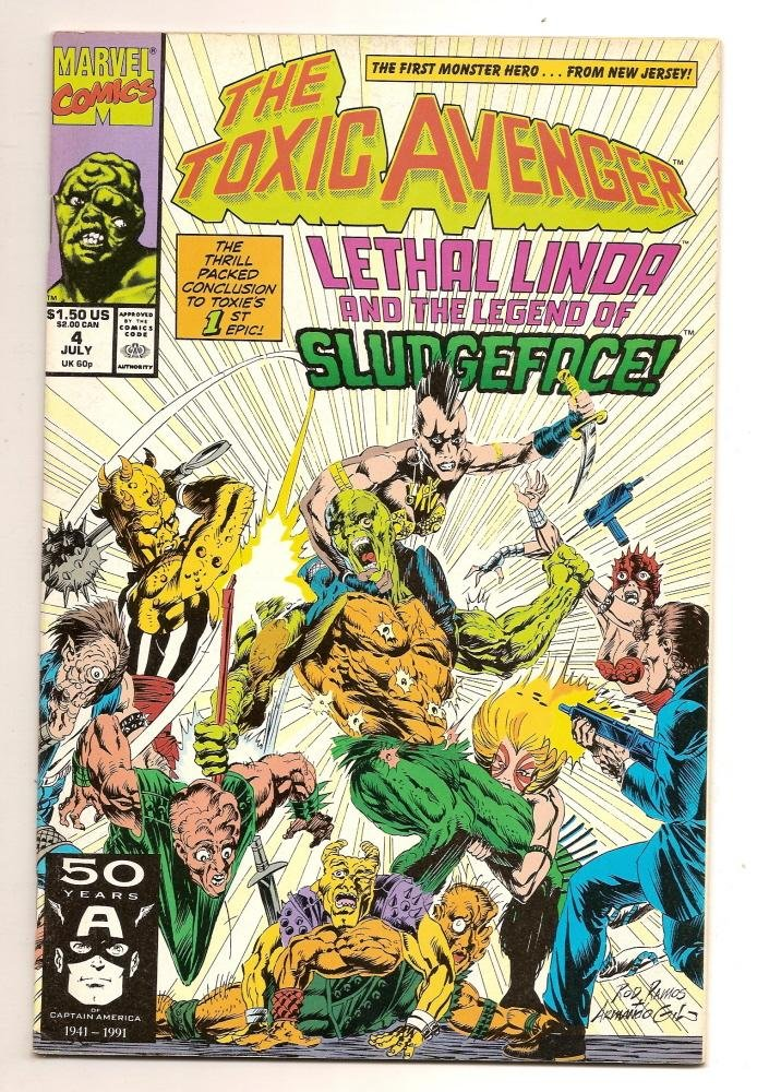 Image 0 of The Toxic Avenger #4 1987 Marvel Comics