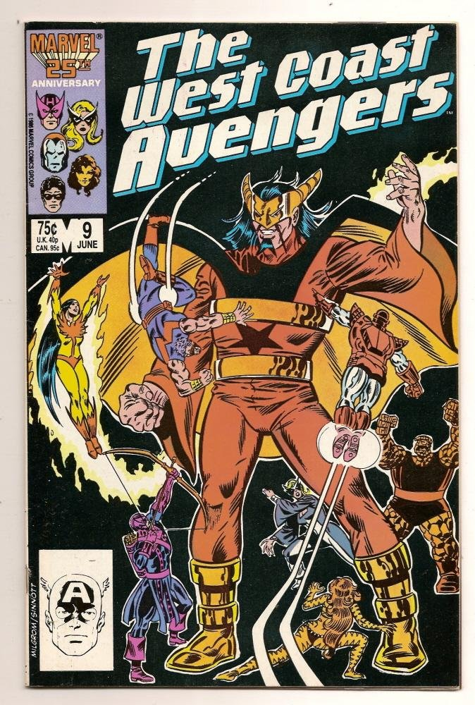 Image 0 of The West Coast Avengers #9 June 1986 Marvel Comics