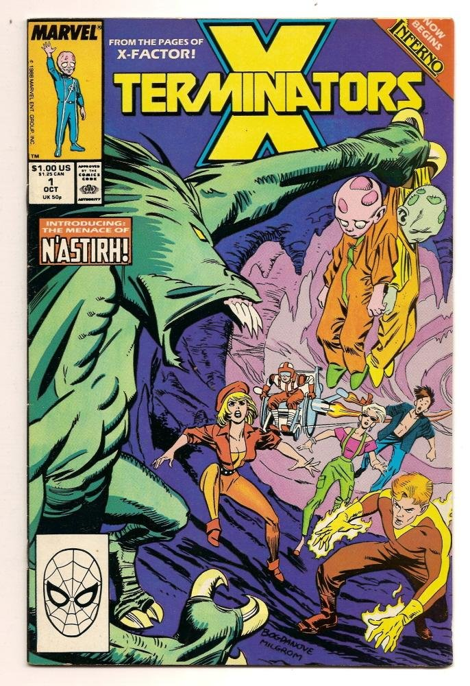 Image 0 of X Termnators #1 Oct 1987 Marvel Comics