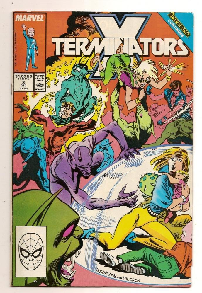 Image 0 of X Termnators #3 Dec 1987 Marvel Comics