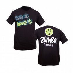 zumba live it love it t shirt black. Black Bedroom Furniture Sets. Home Design Ideas