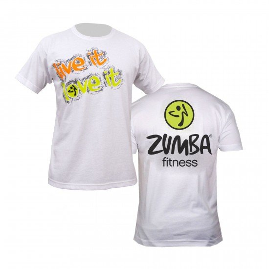 zumba live it love it t shirt white. Black Bedroom Furniture Sets. Home Design Ideas