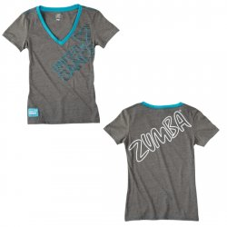 Thumbnail of   Zumba United We Dance V-Neck - Heather Grey