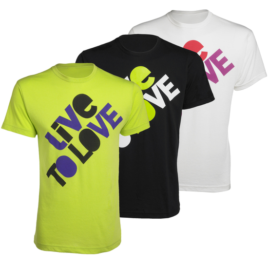 best seller zumba live n love party t shirt white. Black Bedroom Furniture Sets. Home Design Ideas