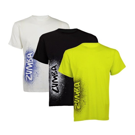 zumba cosmic party t shirt green or white. Black Bedroom Furniture Sets. Home Design Ideas