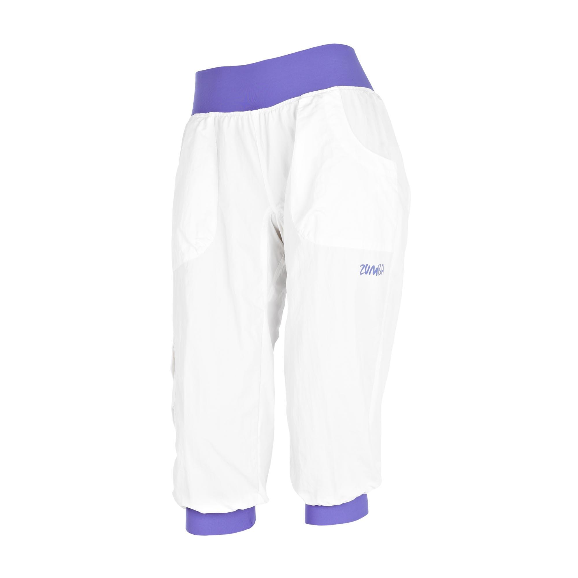 Zumba Stellar Cargo Capri Pants White