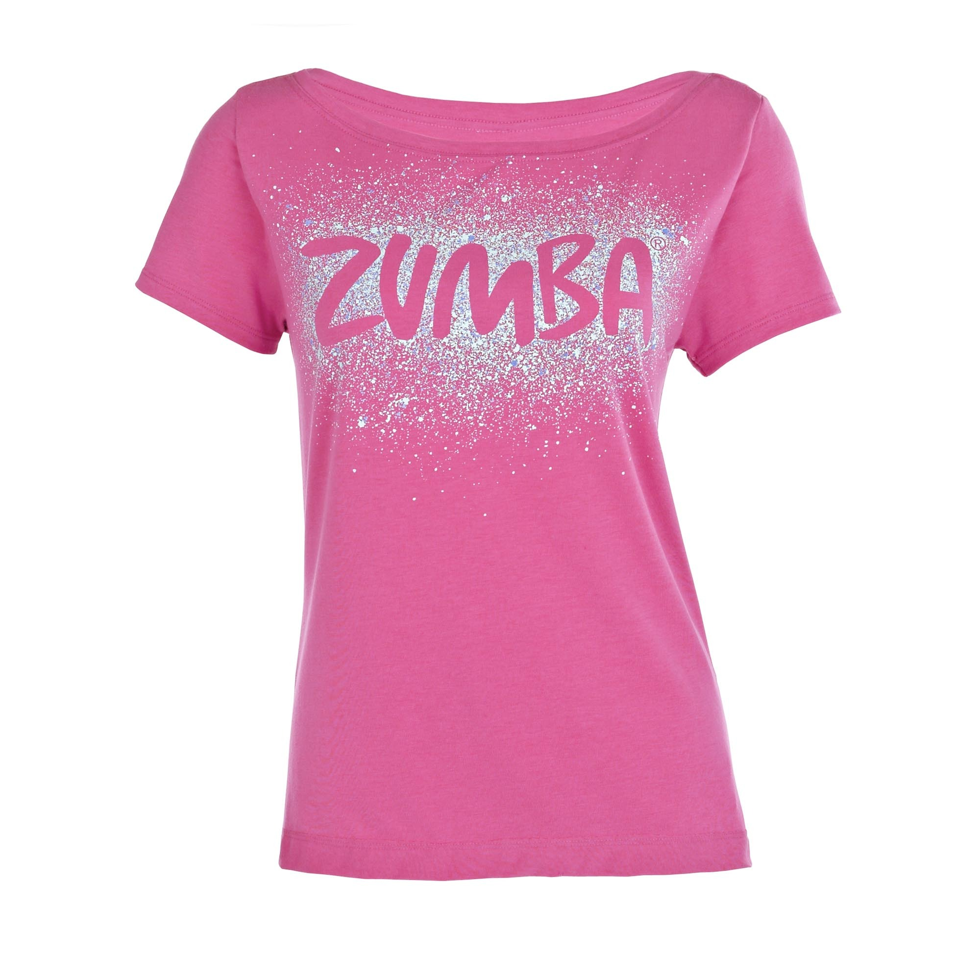 Zumba Cosmic Fancy Top Shirt size XS/S XL/XXL - Berry