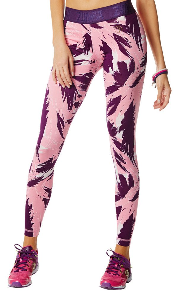 zumba lift me up long leggings size large xl posh in pink. Black Bedroom Furniture Sets. Home Design Ideas