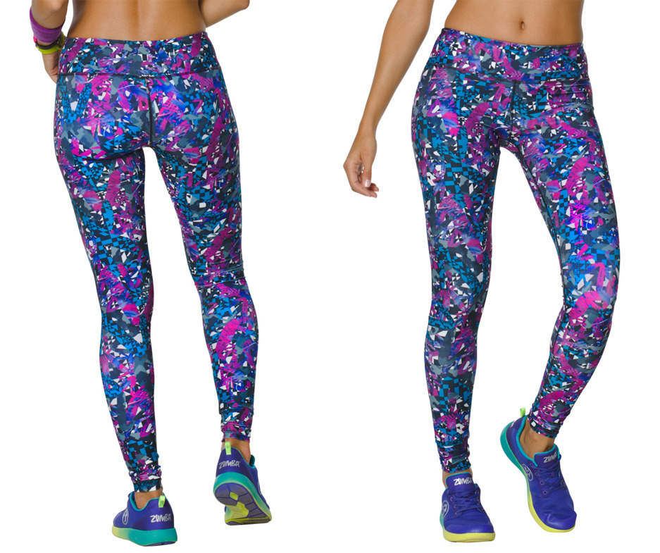Zumba Fitness Leggings: Zumba Mashed Up Perfect Long Leggings Size Large Only