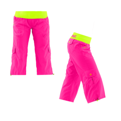 Thumbnail of  Zumba Highlighter Cargo Capri Pants - Pink