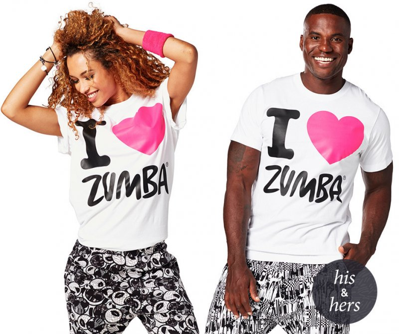 zumba i love zumba unisex tee wear it out white. Black Bedroom Furniture Sets. Home Design Ideas