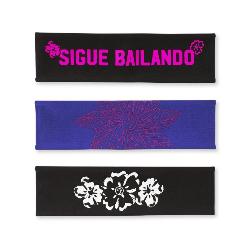 Zumba La Pachanga Reversible Headbands 3 Pack