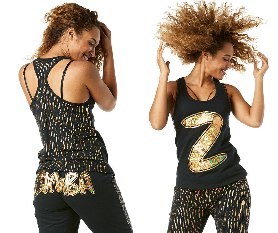 Zumba Berry All Sizes Free Ship! Shine All Day Racerback Tank Top