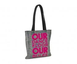 297beeac89eb7 FREE SHIPPING * Zumba Our Dance Floor Metallic Tote Bag - Silver ...