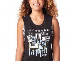 Medium Increase Peace Tank Top Zumba XL sz XS XXL Small Bold Black