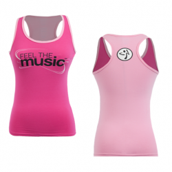 Thumbnail of Zumba Feel the Music Racerback Tank Top size XXL - Pink