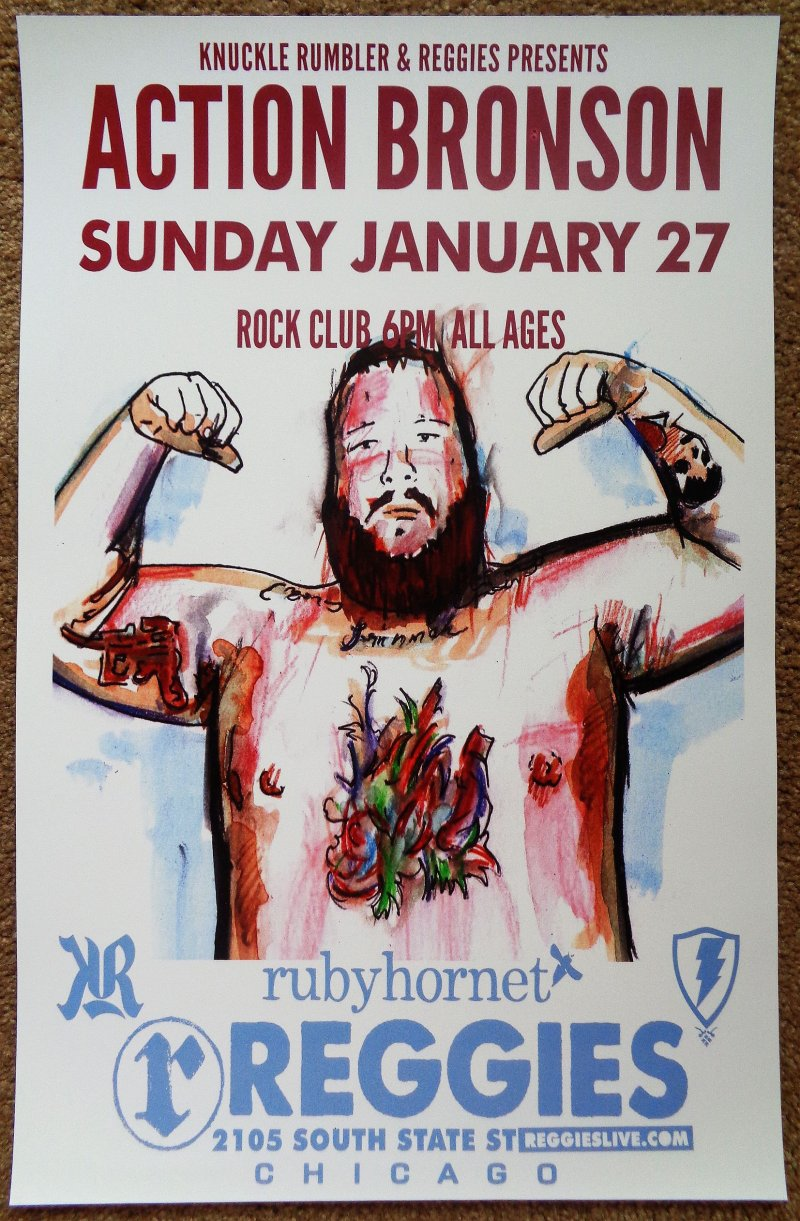 ACTION BRONSON 2013 Gig POSTER Chicago Concert Illinois