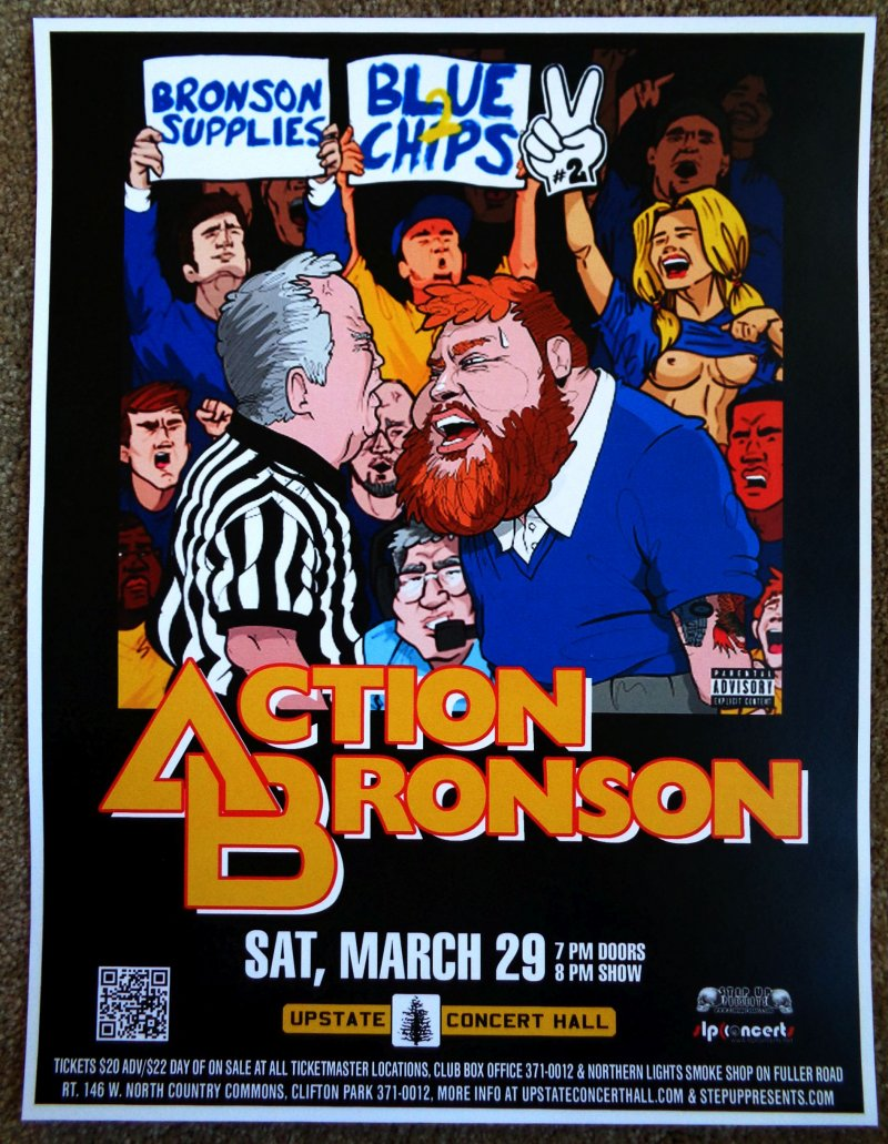 Image 0 of ACTION BRONSON 2014 Gig POSTER Concert Clifton Park New York