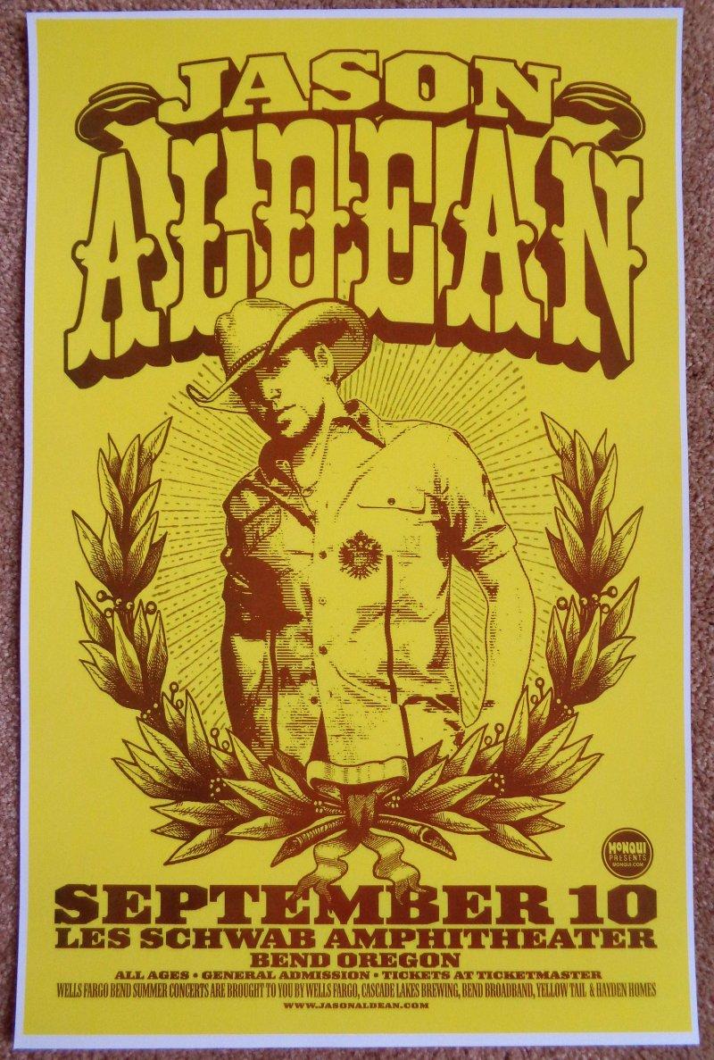 Aldean JASON ALDEAN Bend Oregon 2009 Gig Concert POSTER