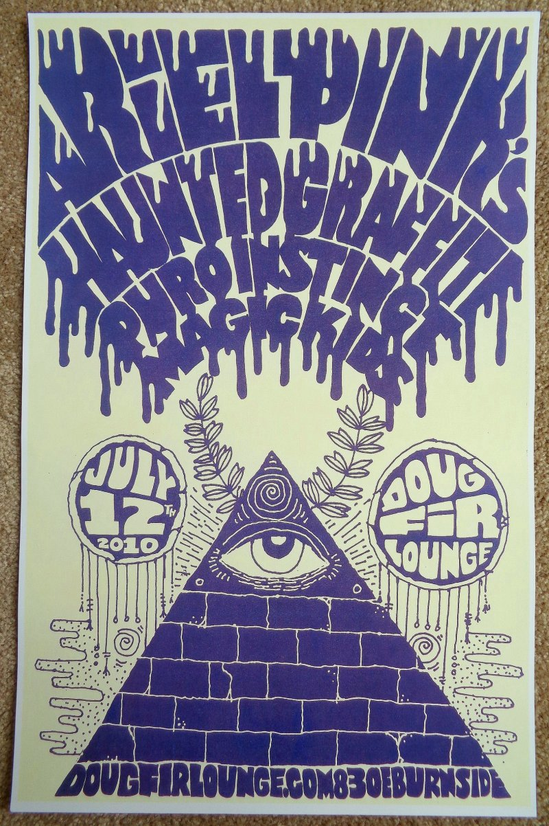 Image 0 of ARIEL PINK 2010 Gig POSTER Portland Oregon Haunted Graffiti Concert