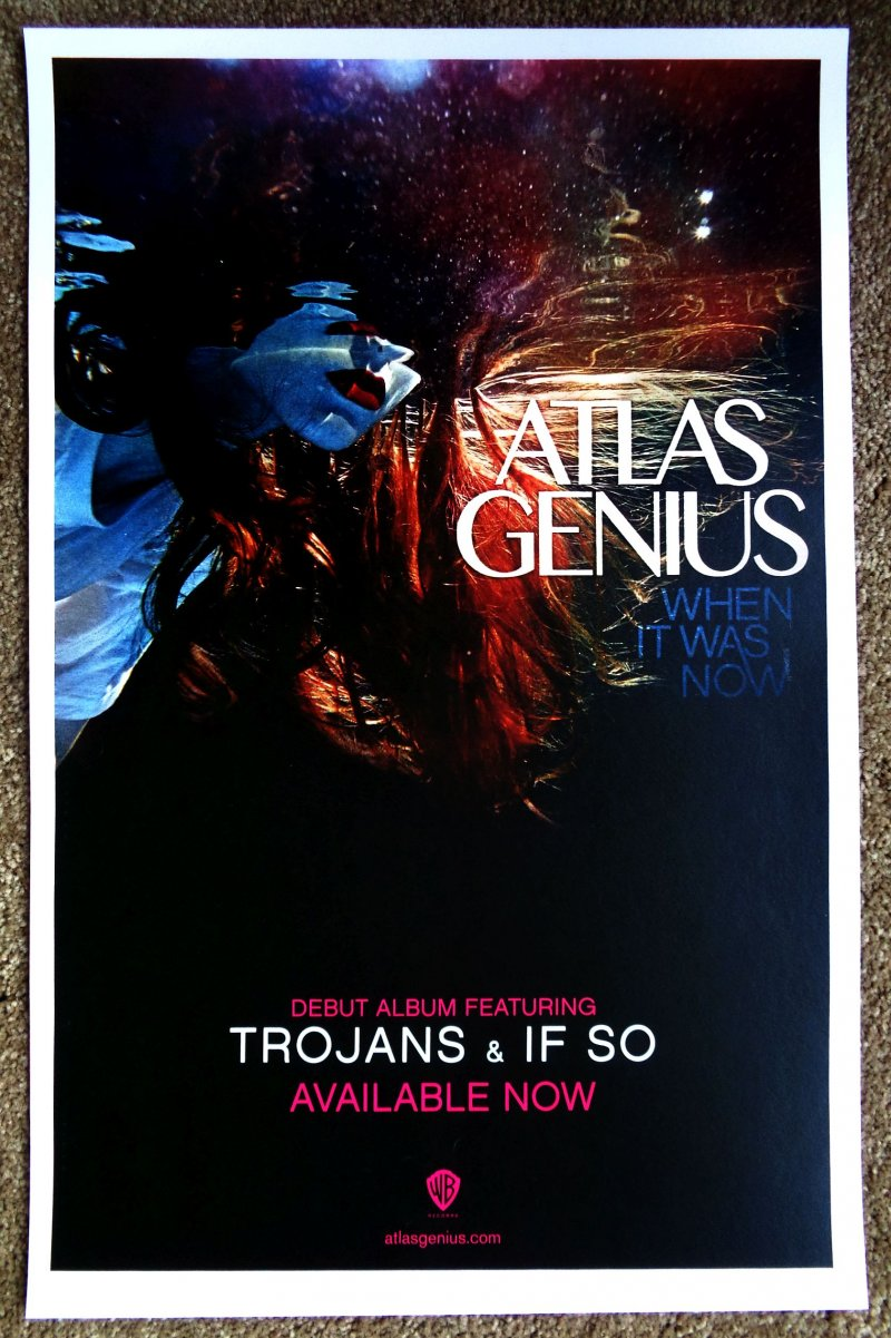 ATLAS GENIUS Album POSTER When It Was Now Debut 11X17