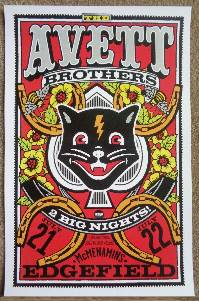 Image 0 of AVETT BROTHERS 2016 Gig POSTER Edgefield Portland Oregon Concert