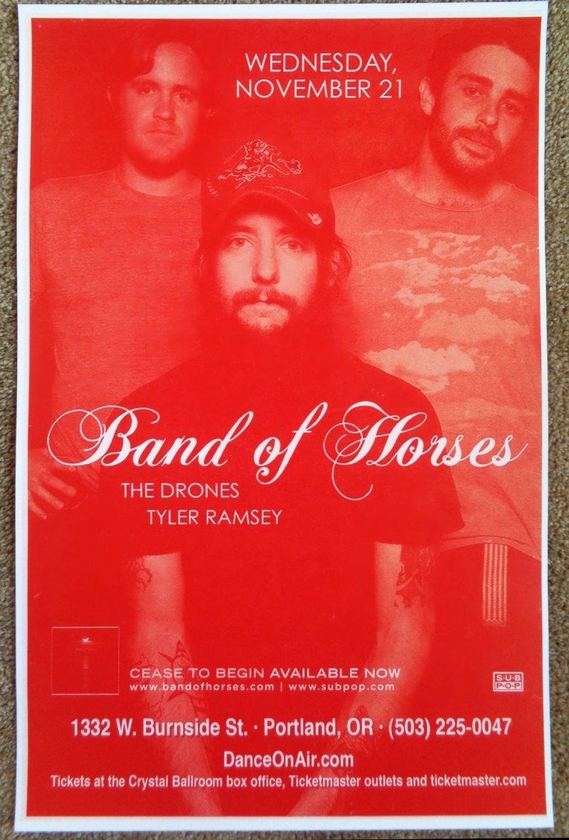 Image 0 of BAND OF HORSES Gig POSTER Portland Oregon Nov. 2007 Concert