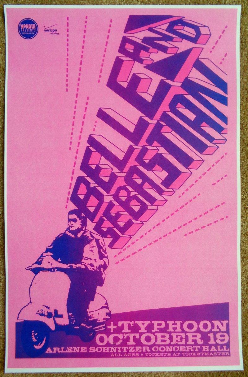 Image 0 of BELLE AND SEBASTIAN 2010 Gig POSTER Portland Oregon Concert (Version 2)