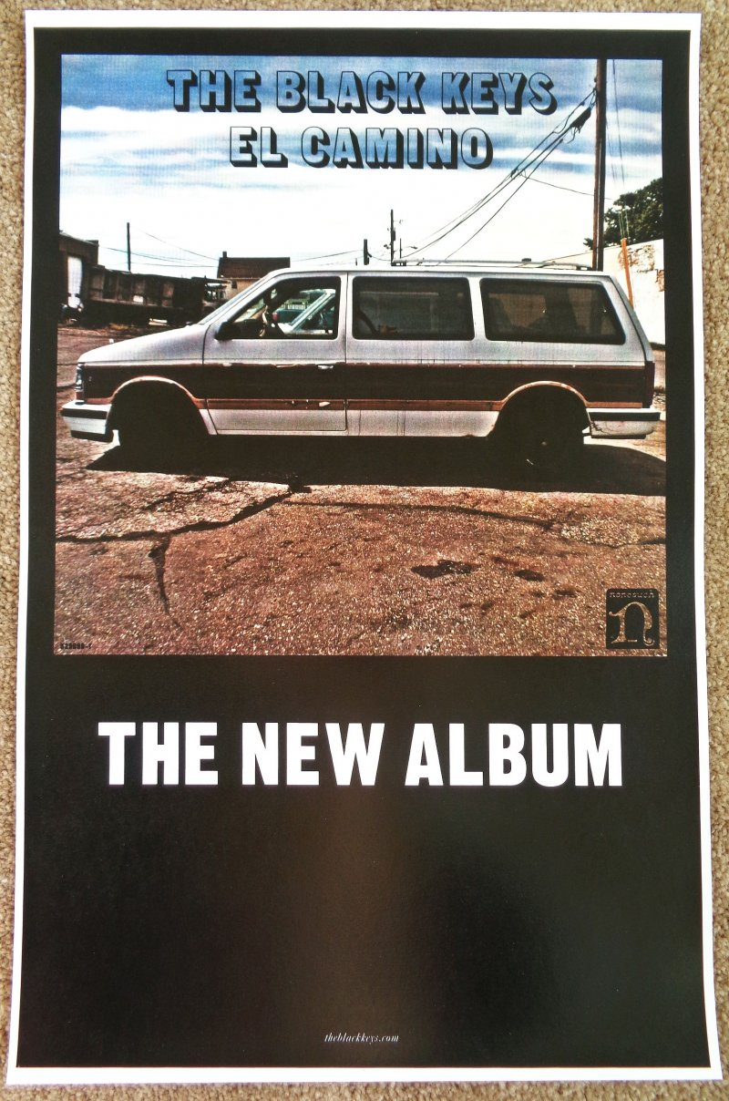 Image 0 of BLACK KEYS Album POSTER El Camino 11x17