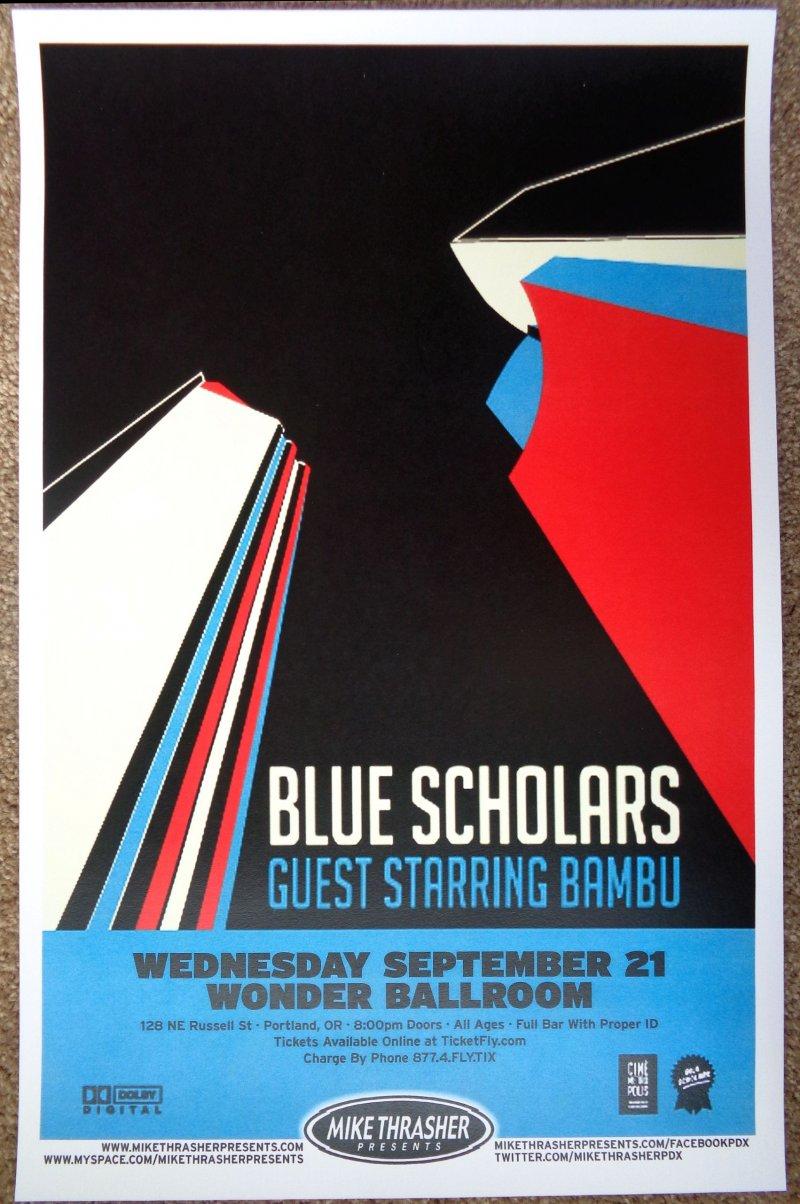 BLUE SCHOLARS 2011 Gig POSTER Portland Oregon Concert