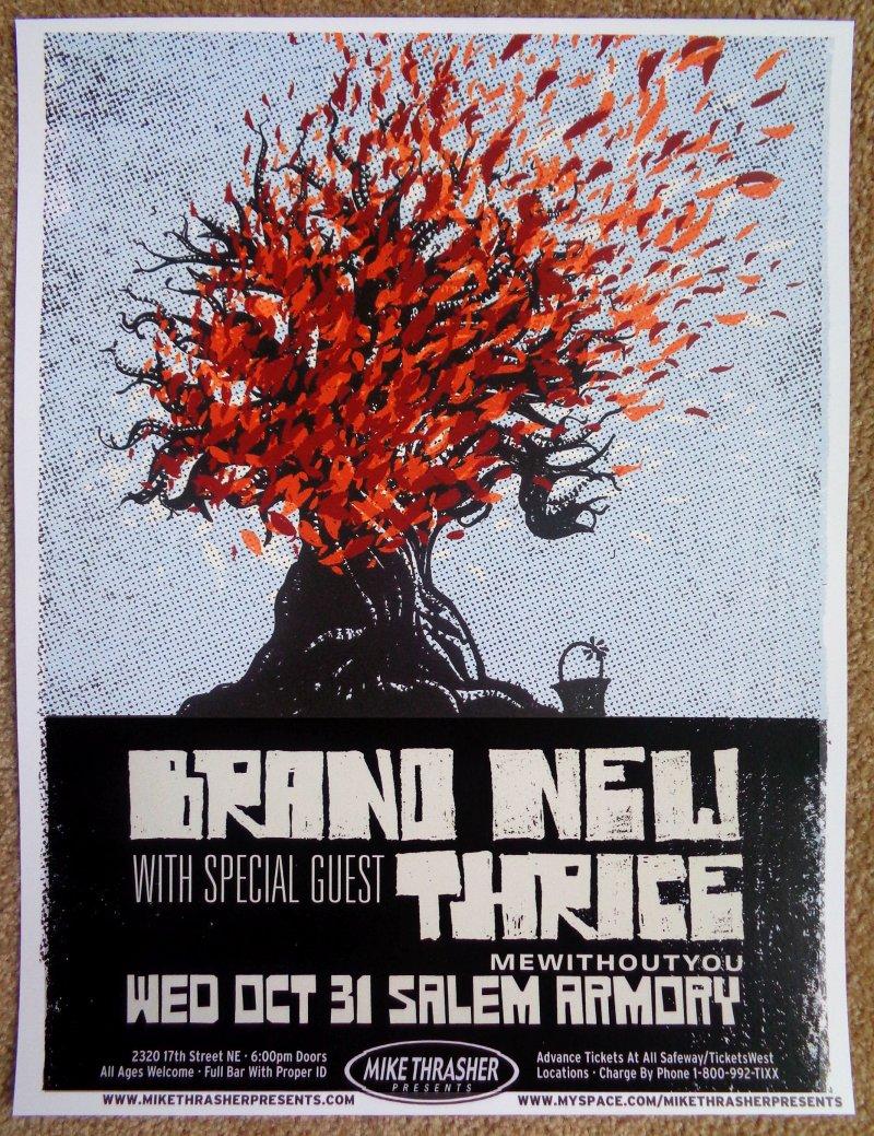 Image 0 of BRAND NEW Jesse Lacey Gig POSTER Salem Oregon October 2007 Concert