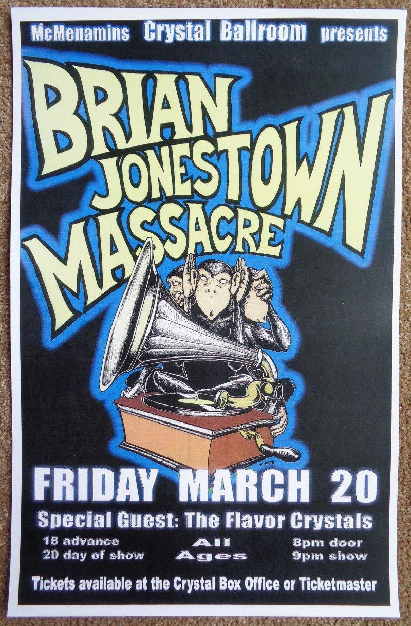 Image 0 of BRIAN JONESTOWN MASSACRE 2009 Gig  POSTER Portland Oregon Concert