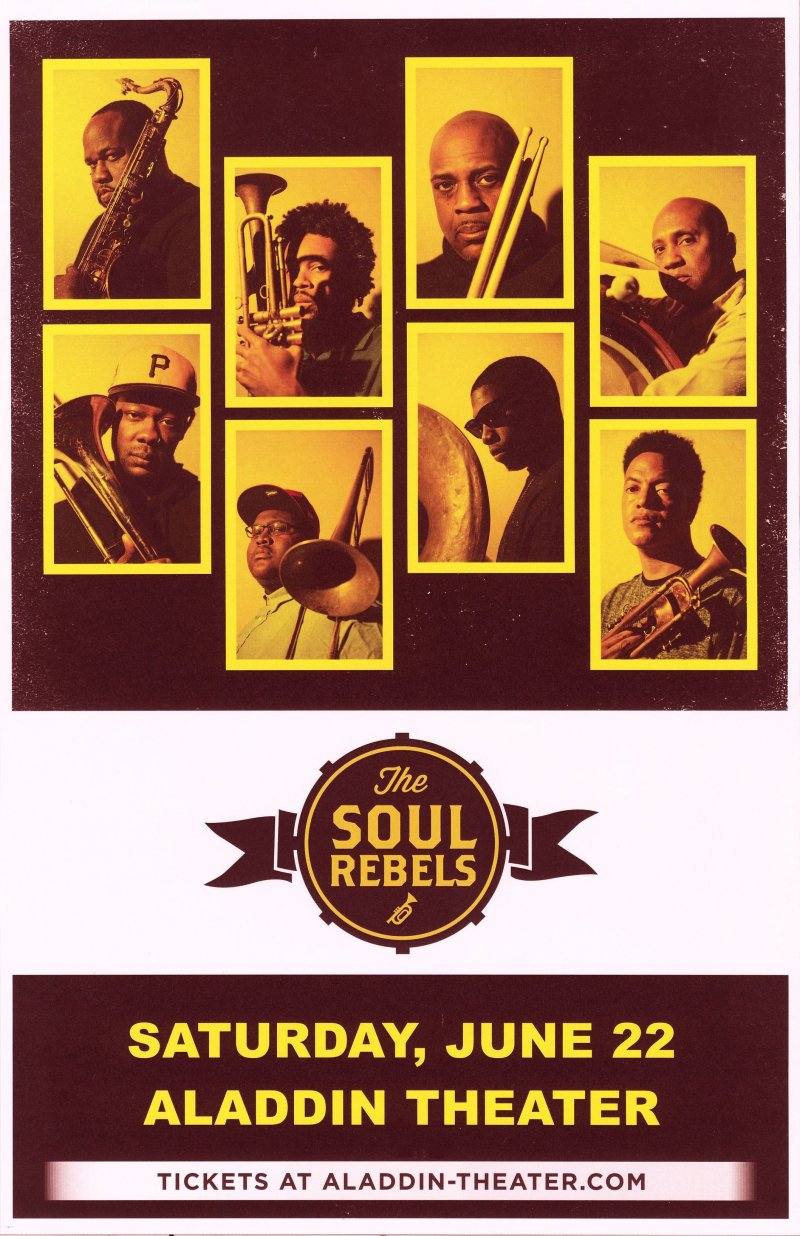 Image 0 of SOUL REBELS 2019 Gig POSTER Portland Oregon Concert
