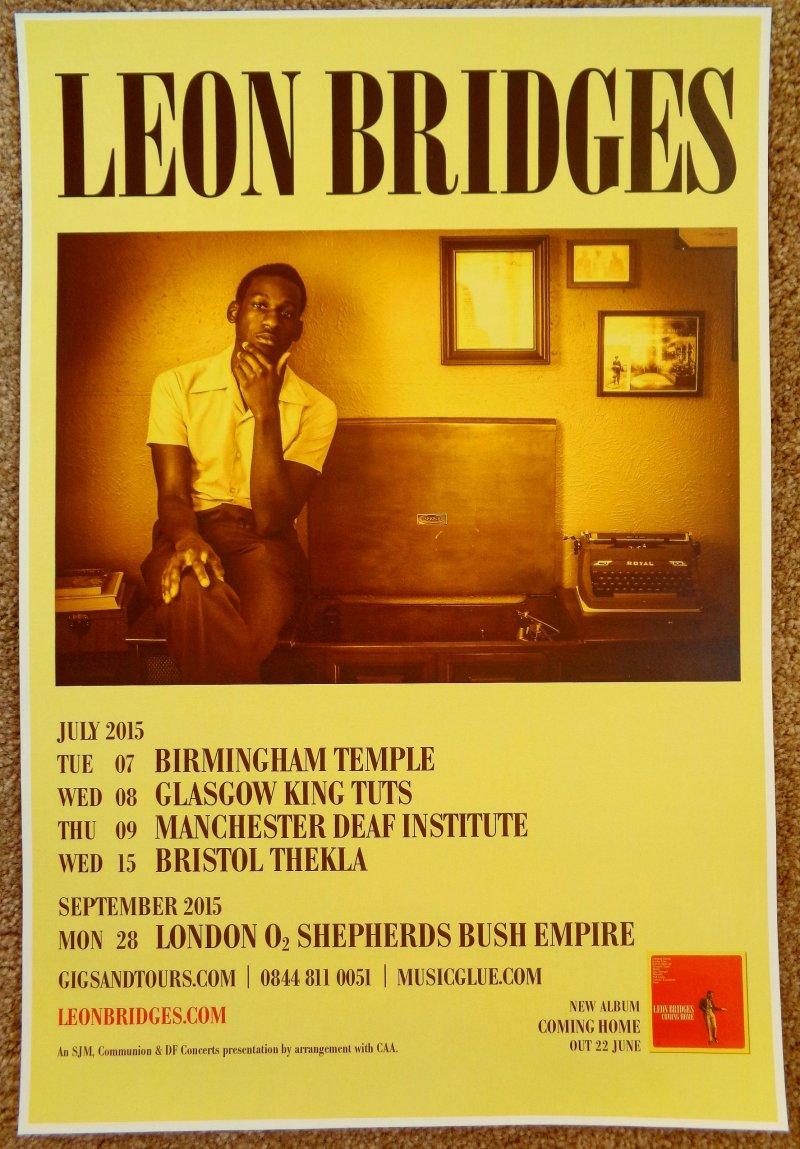 Bridges LEON BRIDGES 2015 UK Tour POSTER Gig Concert