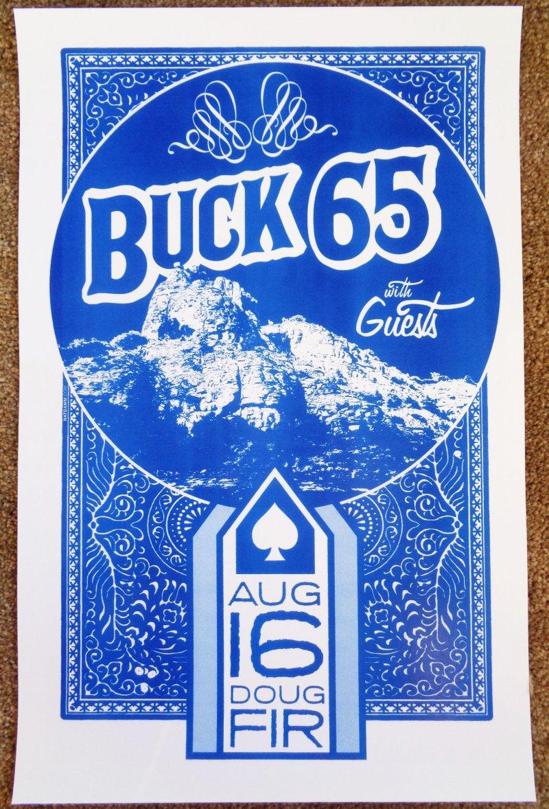 BUCK 65 Portland Oregon 2011 Gig Concert POSTER