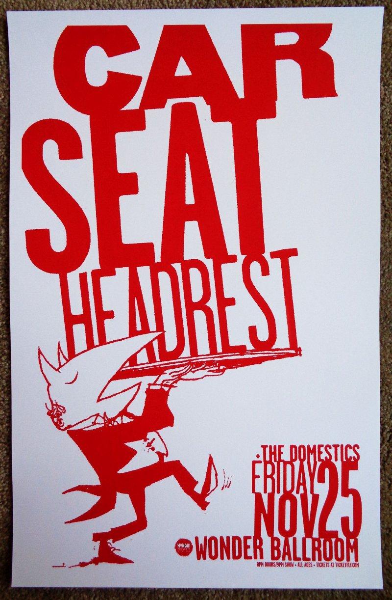 Image 0 of CAR SEAT HEADREST 2016 Gig POSTER Portland Oregon 11x17 Concert Will Toledo