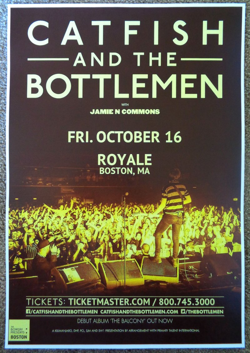 Image 0 of CATFISH AND THE BOTTLEMEN 2015 Gig POSTER Boston Concert Massachusetts
