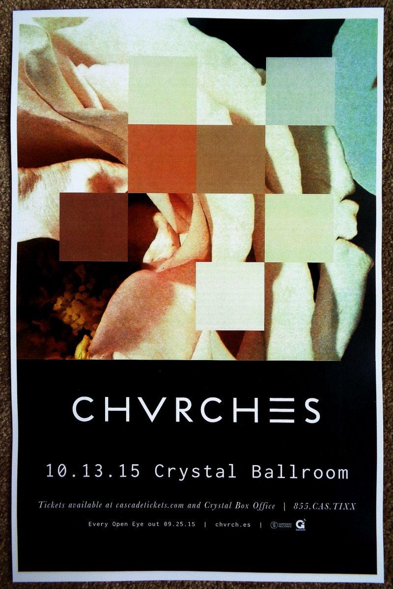 Image 0 of CHVRCHES 2015 Gig POSTER Portland Oregon Concert