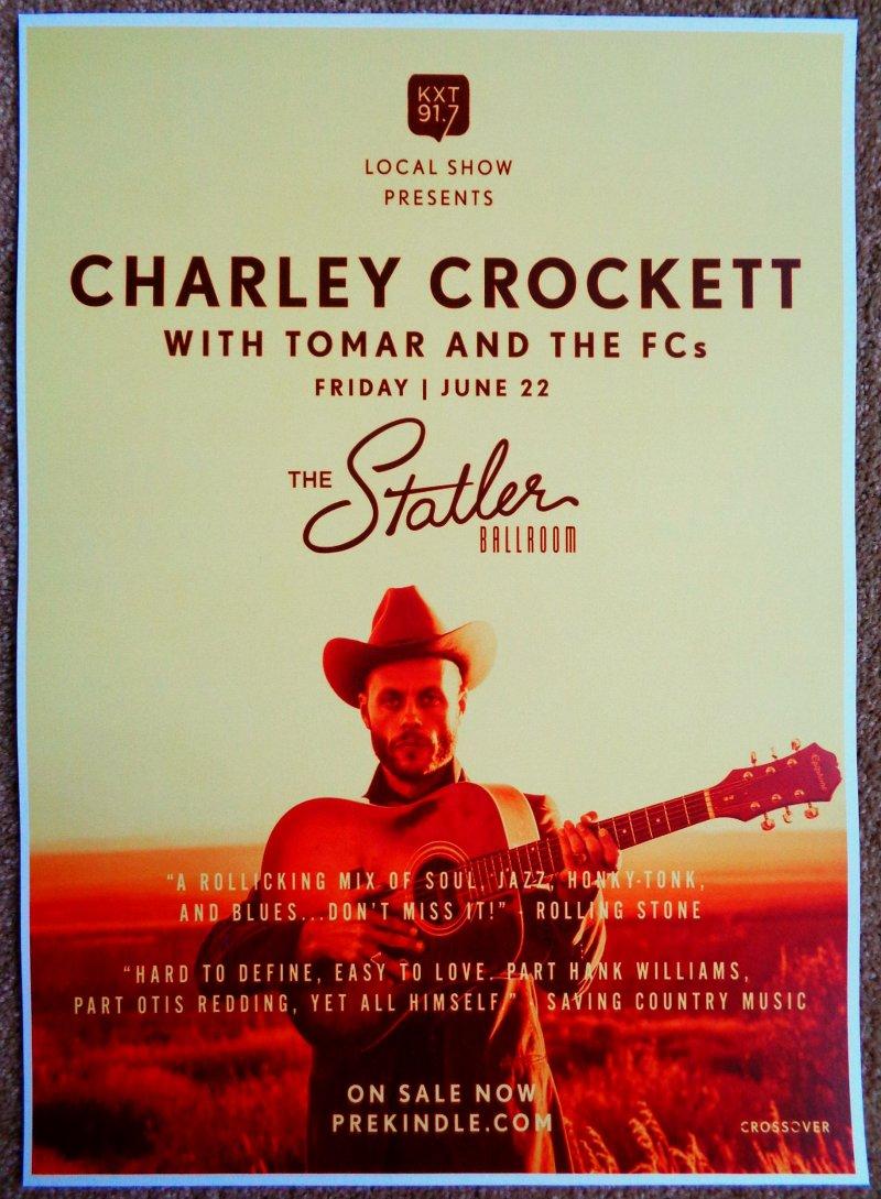 Image 0 of Crockett CHARLEY CROCKETT 2018 Gig POSTER Dallas Texas Concert