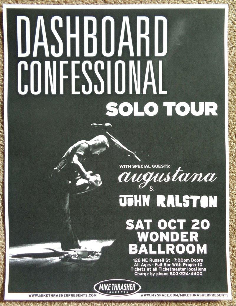 Image 0 of DASHBOARD CONFESSIONAL 2007 Gig POSTER Portland Oregon Concert